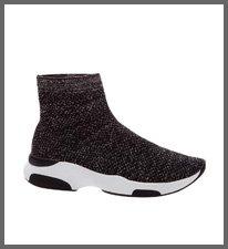 sock sneaker knit silver