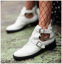 BOTA STELLA CUT OUT SNAKE WHITE