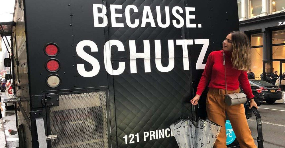 SPOTTED: SCHUTZ LOOKS EM NYC