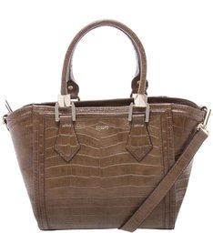 MINI TOTE HELEN CROCO WOOD