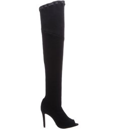 Maxi Over The Knee Peep Toe Black - US Special Collection