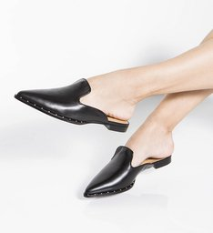 Mocassim Mule Leather Black