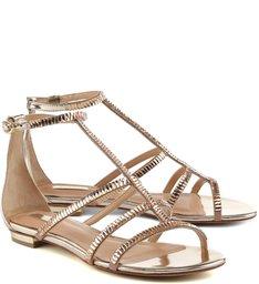 Sandália Basic Strap Metallic