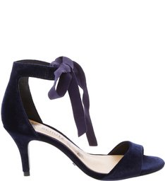 SANDÁLIA BALLERINA LACE UP VELVET NAVY