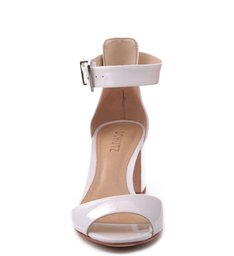 Sandália Salto Médio Quadrado Pearl