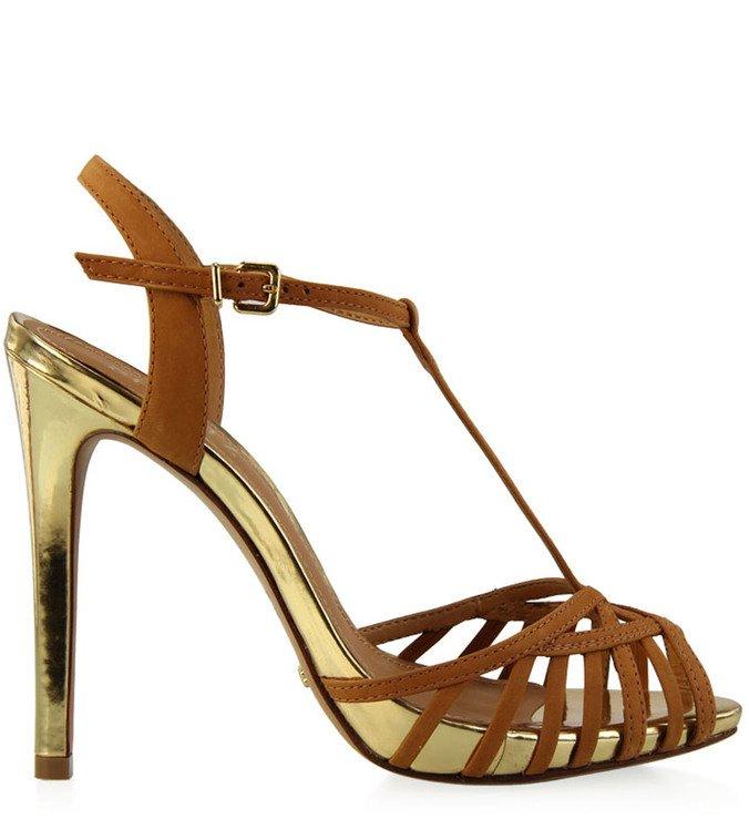Sandália Glam Metalizada