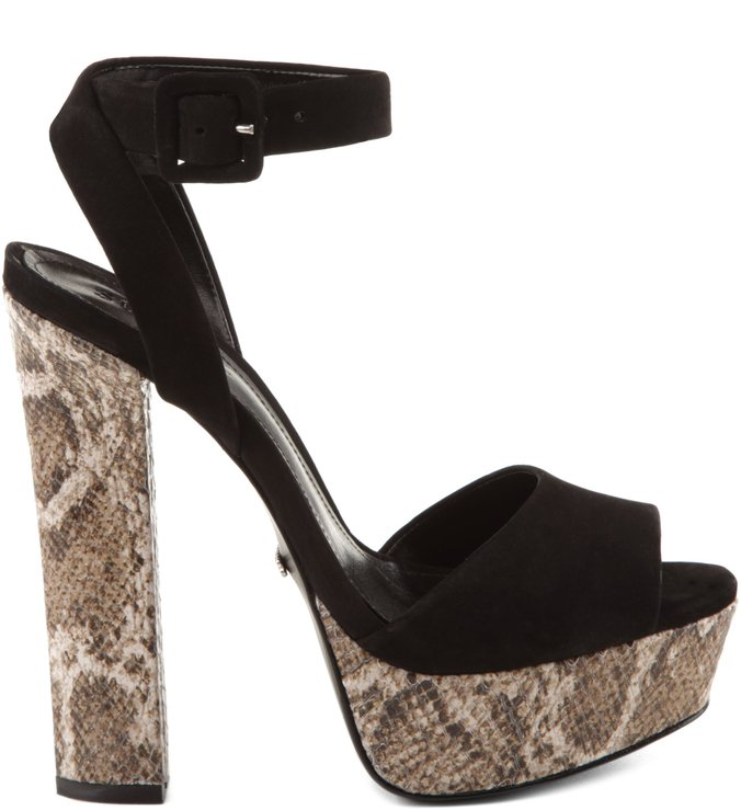 Sandália Seventies Fever Snake Black
