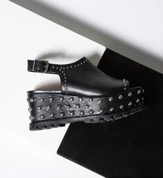 Sandália Tratorada Studs Black