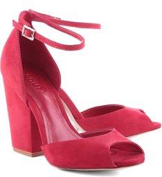 Sandália Basic Salto Bloco Red