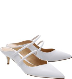 Mule Kitten Heel S-GIRLIE White