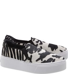 Tênis Slip-On Cow Print P&B