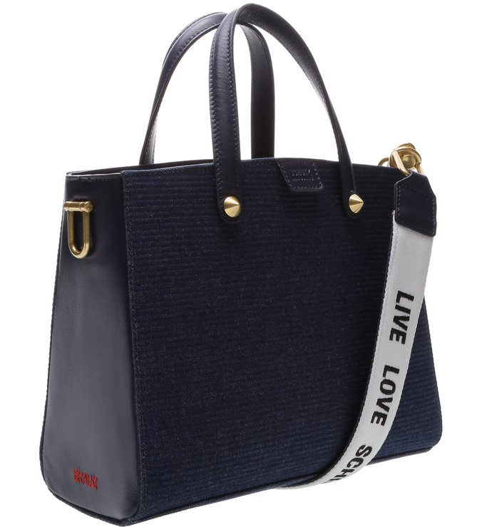 Tote Live Love Texture Blue
