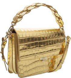 Handbag Aylah Golden Croco