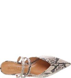 Mule Micro Heel Straps Python