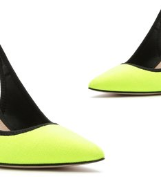 Scarpin Slingback Sporty Neon