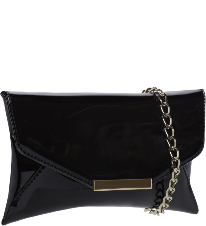 Crossbody Baguete Vinil Black