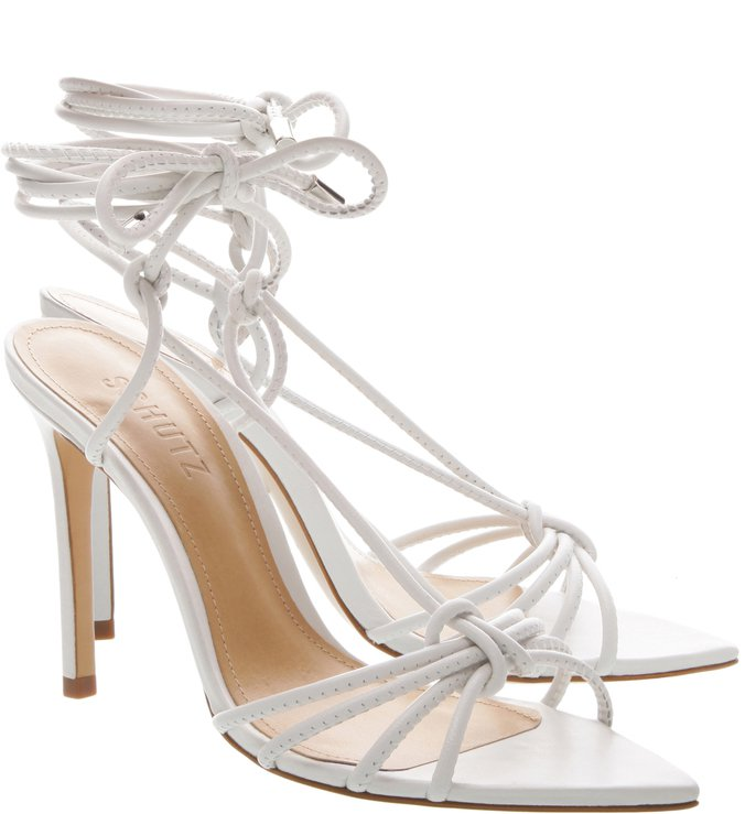 Sandália Strings Lace-Up White
