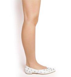 Flat Ballerina Crystal Pearl
