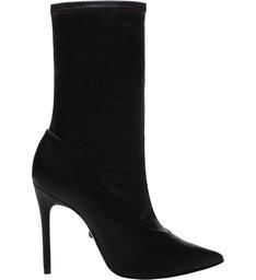 Sock Boot Salto Verniz Black