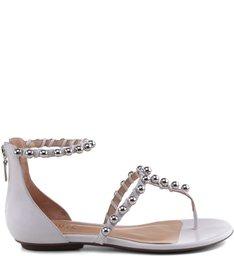Rasteira Romantic Pearls Silver