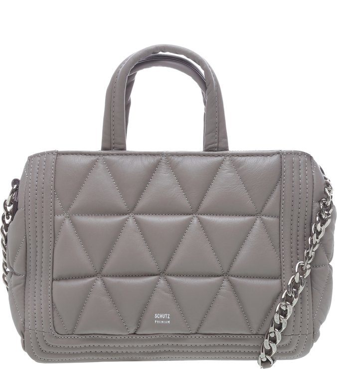 Tote Media Matelasse Maxi Grey