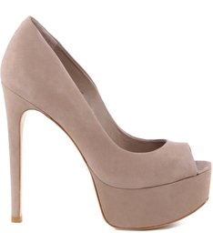 Scarpin Peep Toe Neutral