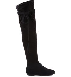OVER THE KNEE TIED UP FLAT  BOOTS