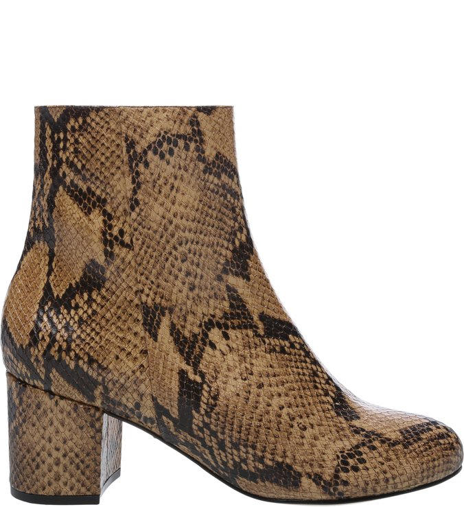 Bota Block Heel Neutral Snake