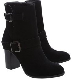 Ankle Boot Double Belt Black