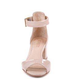 Sandália Salto Médio Quadrado Nude