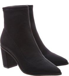 Bota Block Heel Neoprene Black