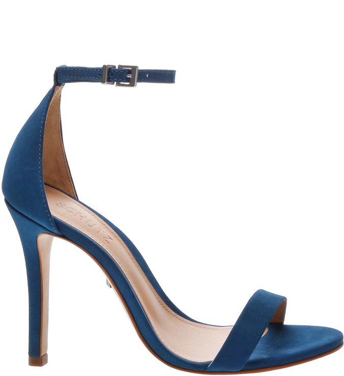 Sandália Gisele Nobuck Blue