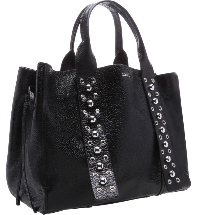 Shopping Bag Metallic Balls Black