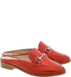 Mule Lola Flat Red
