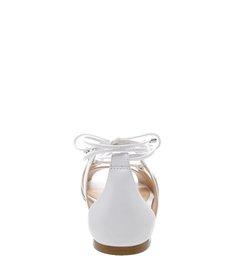Flat Lace-Up Folha White