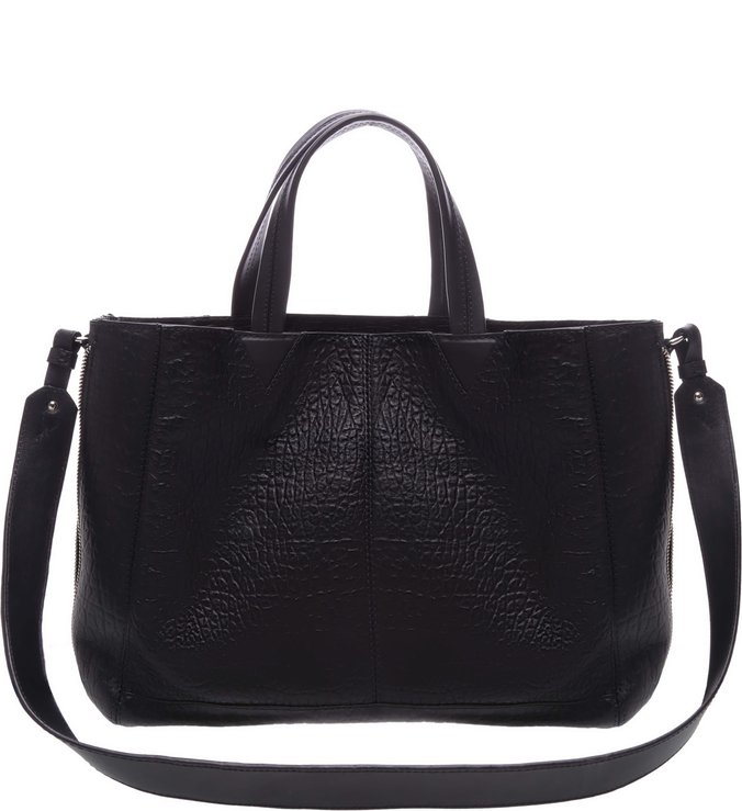 Slouchy Tote Pockets Black