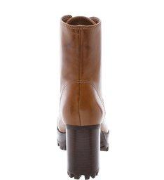 Combat Boots Block Heel Wood