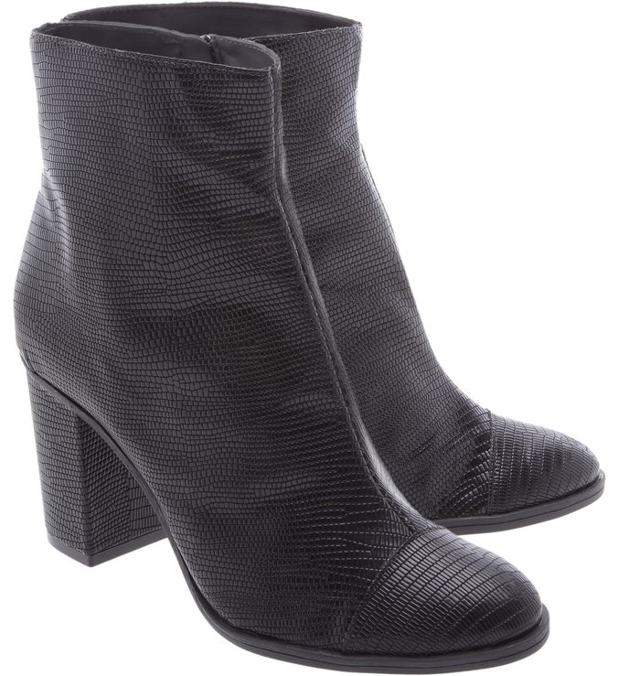Ankle Boot Croco Black