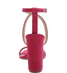 Sandália Salto Nobuck Pink