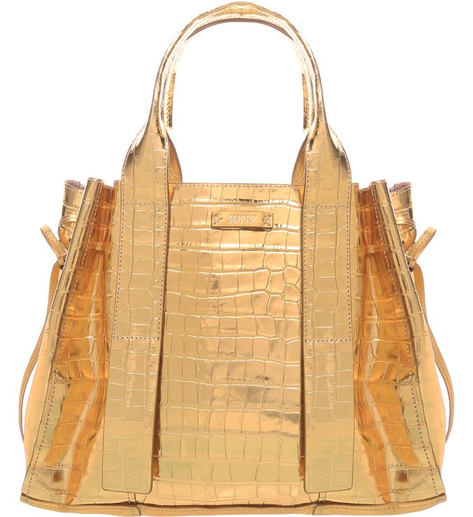 Shopping Bag Maxi Golden Croco | Schutz