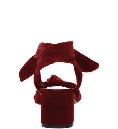 Sandália Block Heel Knot Nobuck Red
