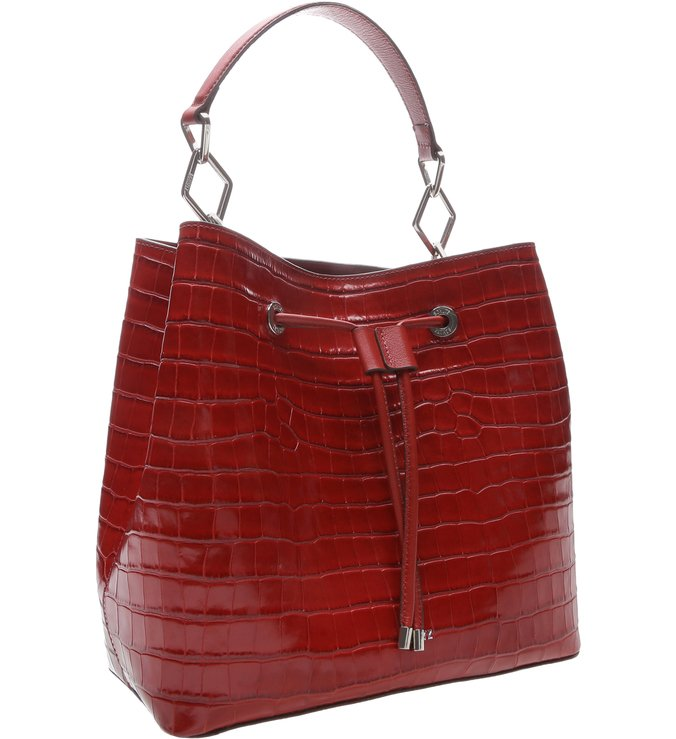 New Bucket Bag Croco Red