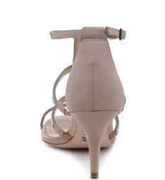Sandália Tiras Metalizadas Oyster