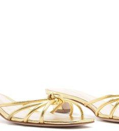 MULE STRINGS MICRO HEEL GOLD