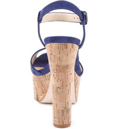 Sandália 70'S Heel Cortiça Blue