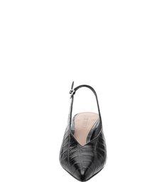 Scarpin Slingback Croco Black