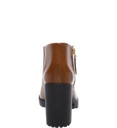 Combat Boots Sola Tratorada Ziper Wood