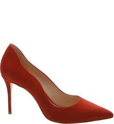 Scarpin Nobuck Curves Red