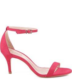 Sandália Gisele Salto Médio Hot Pink