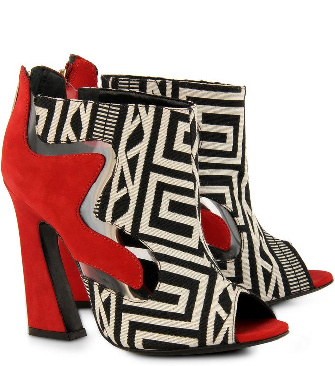 Ankle Boot Eccentric Forms Art Deco